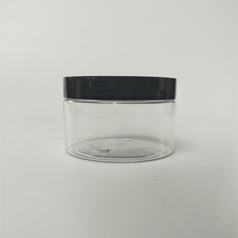 300ml 10oz Clear Plastic PET Jar with Lids Wide Mouth Plastic Jar Wholesale