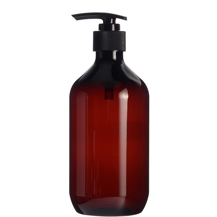 a0b18ccef893 Wholesale 500ml 16oz Plastic PET Amber Round Bottle with Pump,Pop ...