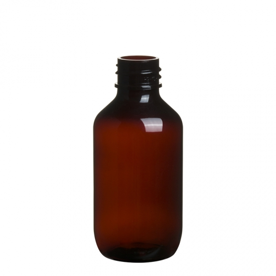 PET Plastic Amber Bottle