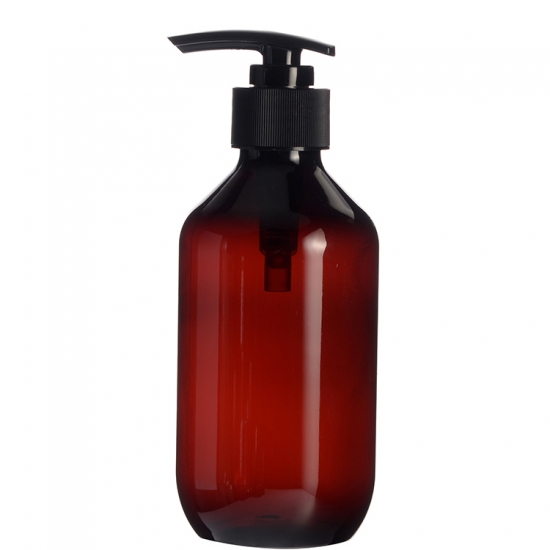 Plastic PET Amber Bottle