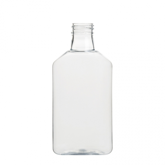 PET Plastic Flat Oval Bottle