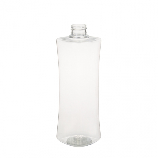 500ml 28mm Neck Size Unique Shape Plastic PET Bottle For Lotion or Shampoo