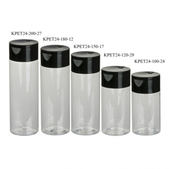 100ml 120ml 150ml 180ml 200ml clear PET cylinder makeup remover polish oil remover bottles series